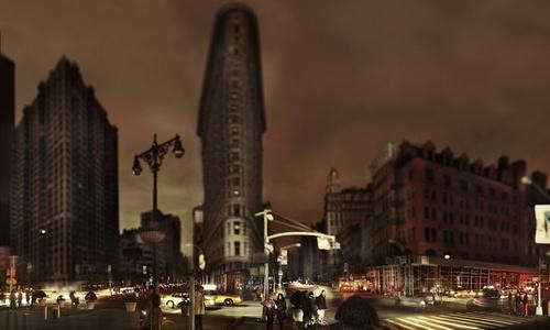 Flatiron, Halloween after Hurricane Sandy, New York, 2012