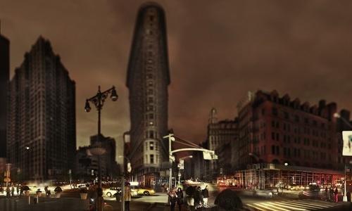 Flatiron, Halloween after Hurricane Sandy, New York