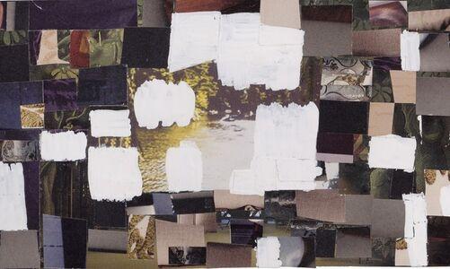 silver rectangles, slight rose, white squares, indigo
