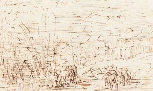 Figures in a Landscape [verso]
