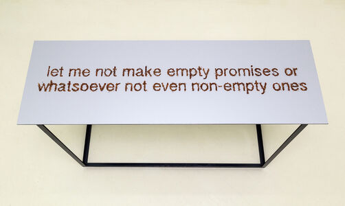Let me not make empty promises or whatsoever not even non-empty ones
