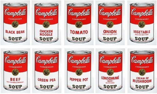 Soup cans (Sunday B Morning Portfolio of 10)