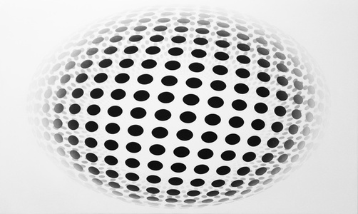 Dot Sphere Oval White