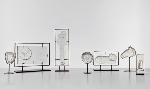 Group of seven sculptures