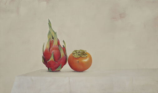 Dragonfruit and Persimmons