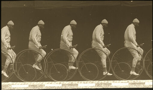 Chronophotograph of a Man on a Bicycle