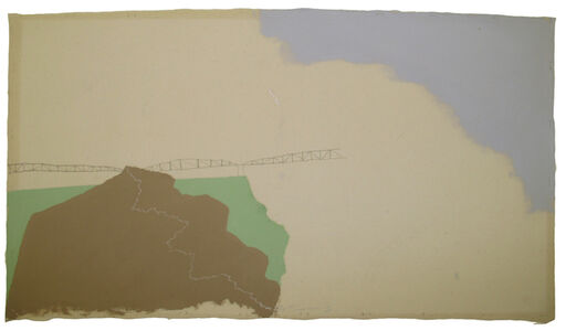 Untitled (Landscape with bridges and path...)
