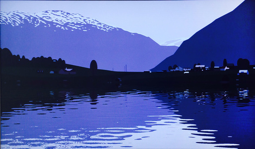 I had made a couple of animated films of rippling water…..