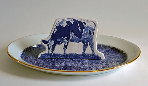 Scott's Cumbrian Blue(s), Crooklands Cow in a Meadow No. 3