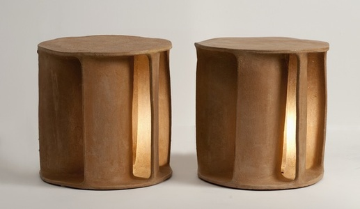 Pair of Illuminated Side Tables