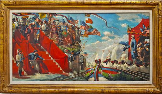 George Washington in  Marine Procession for New York  Presidential Inauguration.
