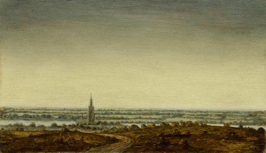 Panoramic Landscape with a Town on a River