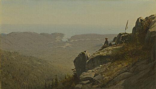 The Artist Sketching at Mount Desert, Maine