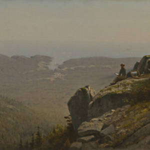 The Artist Sketching at Mount Desert, Maine
