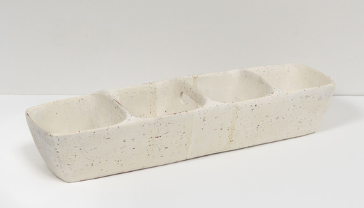 Small Partitioned Trough (white)