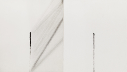 One vertical motion recorded by charcoal-stick and camera open at end of motion