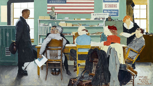 Norman Rockwell Visits a Ration Board
