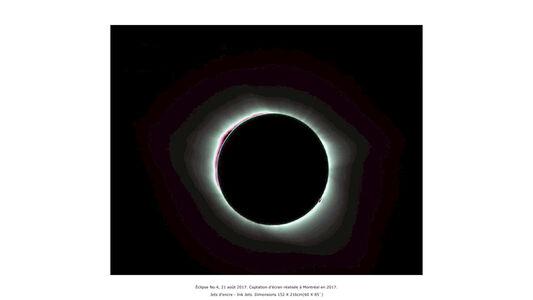 Éclipse No.4, 21 août 2017. Captation d'écran réalisée à Montréal en 2017 (série Anton Bequii)