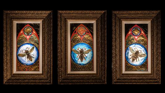 Honey Bee (Triptych)