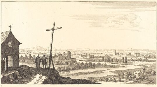 Landscape with Church and Town in Distance