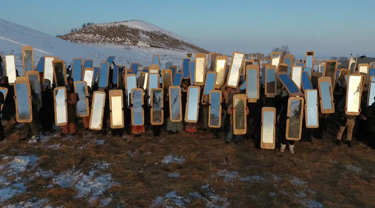 Mirror Shields for Standing Rock, N.D.