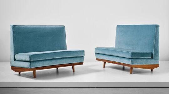 Unique pair of sofas, designed for Casa Cirio, Turin
