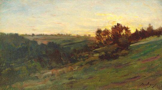 Vallée de Valmondois au soleil couchant