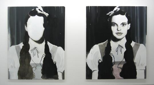 Dorothy in mirror / Dorothy faces mirror