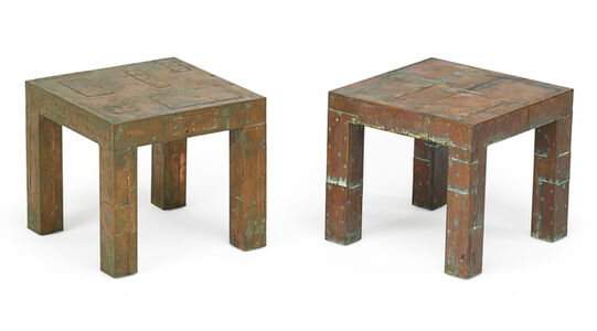 Pair of Patchwork tables, New Hope, PA