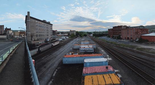 Depot at Twilight