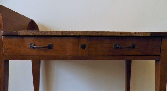 Exceptional Asymmetric Student Desk by Eugène Printz, Art Déco, France