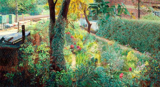 Garden with Train Tracks