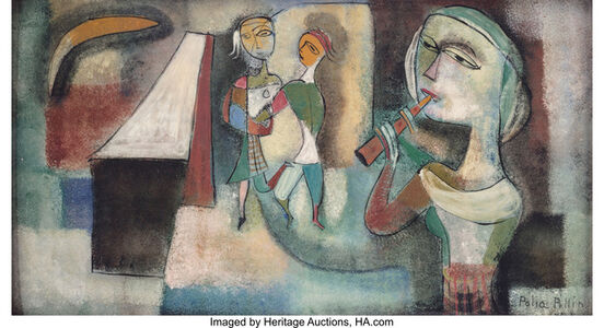 Untitled (Woman with Flute)