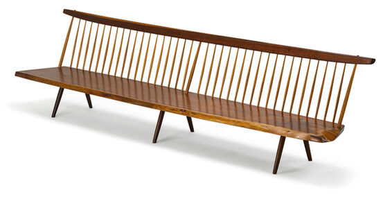 Large exceptional Bench with Back, New Hope, PA
