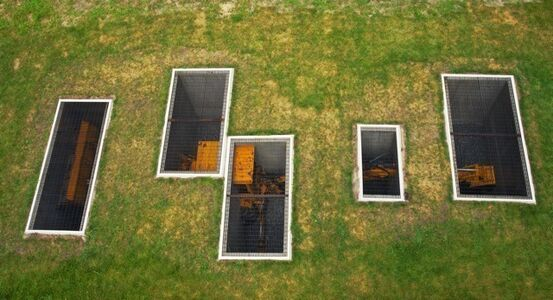 A Proverbial Machine in the Garden (aerial view), Storm King Art Center
