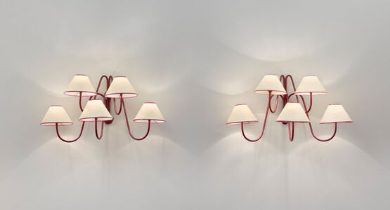 """Pair of 5 arm """"bouquet"""" wall lights"""