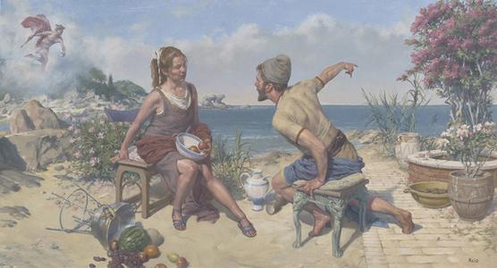 Odysseus on Ogygia