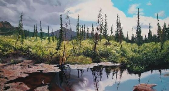 Pond near Teklanika River, Denali National Park