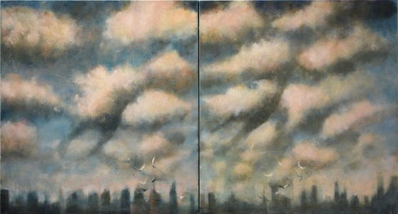 Double clouds over the City (diptych)