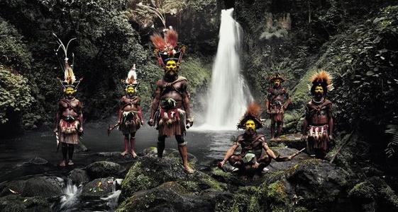 XV 66, Tumbu, Hangu, Peter, Hapiya, Kati, Hengene & Steven, Huli Wigmen, Ambua Falls, Tari Valley, Papua New Guinea
