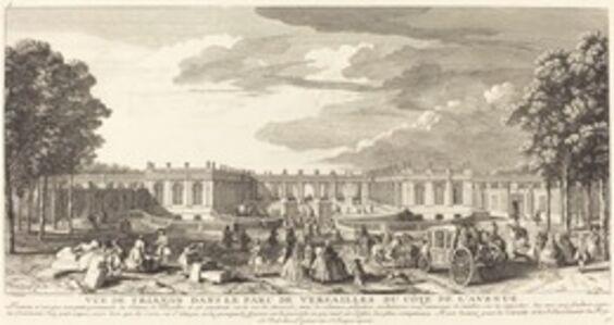 Vue de Trianon dans le Parc de Versailles du Cote de l'Avenue