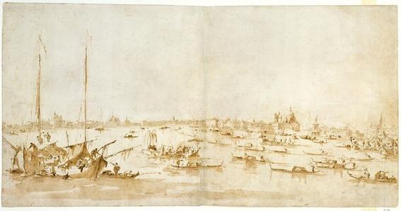 Panaromic View of the Bacino di San Marco, Looking up the Giudecca Canal