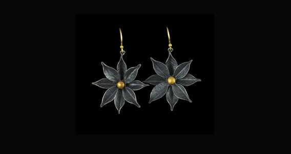 Lyrata Large Silver Earrings