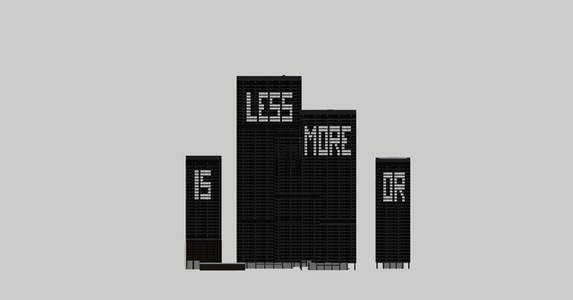 Less is more or ... #3