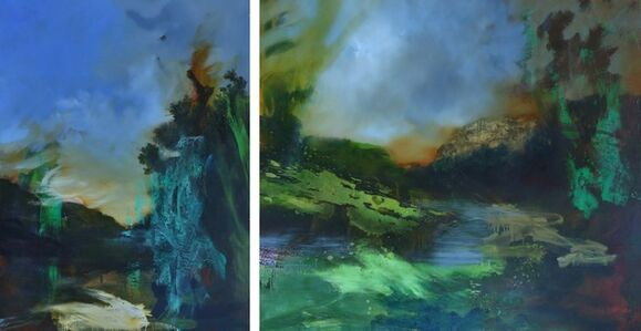 Untitled Painting XIII (Herne) Diptych