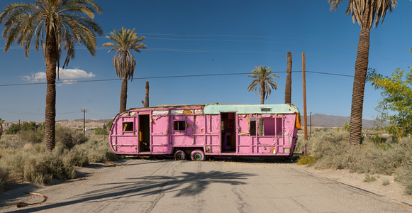 Pink Trailer; Salton Sea, California
