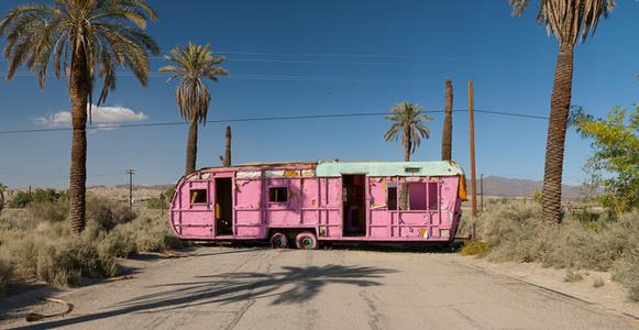 Pink Trailer; Salton Sea, California