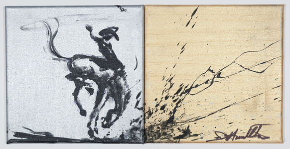Horse and Rider - Silver and Gold (Diptych)