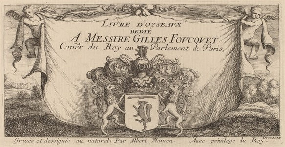 """Title Page for """"Livre d'oiseaux"""""""