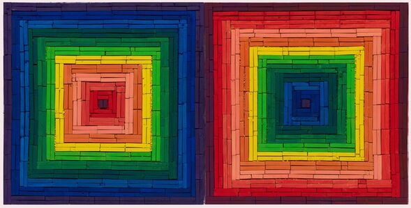 Metachrome (Double Scramble, after Frank Stella)